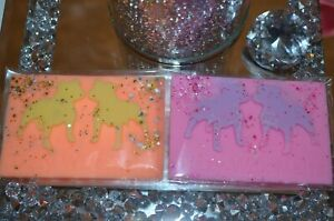 2 x staffordshire bull terrier wax melt bars, highly scented
