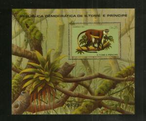 Sao Tome Block 55 ** Säugetiere (1981)