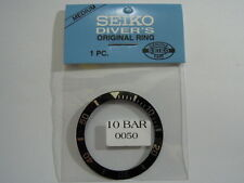 NEW SEIKO 10 BAR MEDIUM BLACK BEZEL INSERT FOR SEIKO 7S26-0050 DIVER'S WATCH