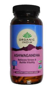 Organic India Ashwagandha 250 / 500 / 750 Capsules FREE SHIPPING