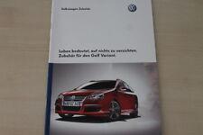 184063) VW Golf V Variant - Zubehör - Prospekt 07/2007
