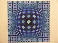 ''Kezdi Ga'' Color Screen Print by Victor Vasarely