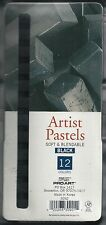 12-PC BLACK CHALK PASTEL SET ~ SOFT PASTELS ~ NEW!!