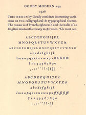 New Letterpress Type- 12pt. Goudy Modern, complete font