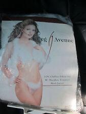 white leg avenue 3 pc chiffon bikini set w/marabou trimmed mesh jacket    #130