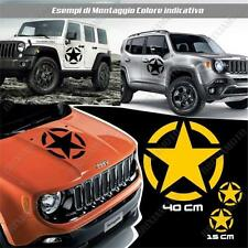 KIT 3 STICKERS STAR ARMY BODYWORK GRAPHIC JEEP WRANGLER OFF ROAD YELLOW