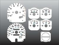 1992-1995 Jeep Wrangler Instrument Dash Cluster White Face Gauges 92-95