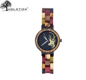 HOLZTICK® - Damenuhr aus Holz / Trachtenuhr / Armbanduhr / ideal als Geschenk