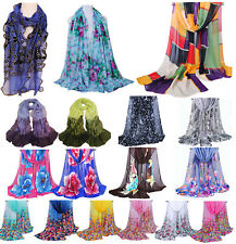 Fashion Lady Women's Long Soft Wrap Lady Shawl Cotton Chiffon Scarf Scarves CHIC