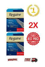 2xNEW REGAINE EXTRA STRENGTH UNISEX (ROGAINE) 5% MINOXIDIL 60ml ORIGINAL JOHNSON