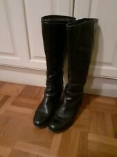 Size 5.5 Black Warm Leather Winter Boots Jenny By Ara good cond. see photos