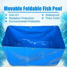 Movable Foldable Blue Pool Fish Tank PVC Coated Waterproof Anti-UV