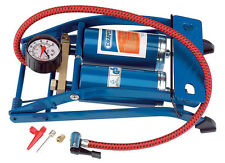 Draper Double Cylinder Foot Pump with Pressure Gauge 4435 25996
