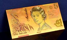 "★★ AUSTRALIE / AUSTRALIA : BILLET POLYMER  "" OR "" DU 5 DOLLARS ★"