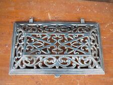 Ancienne grille fonte émaillé bleue émaille art nouveau porte, défense émail