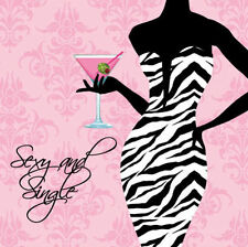 2 PKTS SASSY SWEET SEXY & SINGLE BEVERAGE NAPKINS BACHELORETTE PARTY HENS NIGHT
