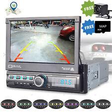 """7"""" AUTORADIO 1DIN MIT GPS NAVIGATION BLUETOOTH MAP MP3 PLAYER + Rückfahrkamera"""