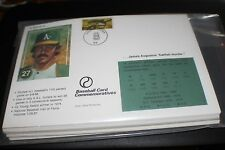 Lot Of 100 Catfish Hunter 6x9 1st Day issue stamp Coopetstown 1987 HOF