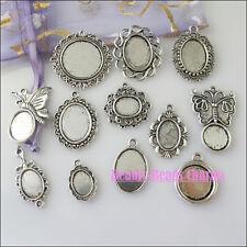 12Pcs Mixed Tibetan Silver Tone Picture Frame Charms Pendants