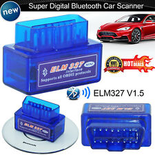 Mini Super ELM327 Bluetooth V2.1 OBD2 OBDII Car Diagnostic Scanner Adapter Tool
