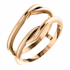 14K Rose Gold Ring Guard Wrap Enhancer Engagement Bridal Wedding Ring