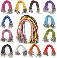 Wholesale Lots 10Pcs Leather Rope Bracelet Braided Cuff Bangle Many Colors Hot