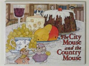Vintage 1970s The CITY MOUSE & The COUNTRY MOUSE Frame-Tray Puzzle! Jaymar #509!