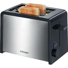 Cloer Toaster 3210 Schwarz-Edelstahl  Krümelschublade 825 Watt Stopptaste