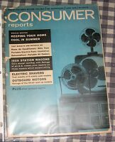 Vintage June 1959, Consumer Reports Magazine,Station Wagons,Air-Conditioners,++