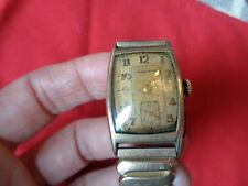 14K Gold Filled Manual Wind Vintage HAMILTON Men's Watch with Second Hand 1920s