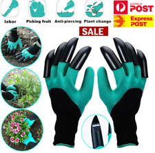 Garden Gloves Gardening Gloves With Claws for Digging & Planting 1 Pairs AUS