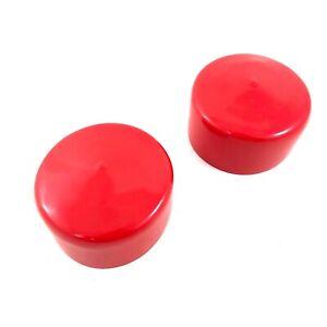 """Plastic Tube Vinyl Cap, 3"""" Diameter, End Cap Rubber Tubing Rod Cover, Red"""