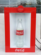 Coca Cola Light sign display with empty bottle anniversary 50 years used rare