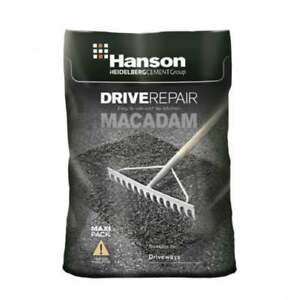 25 Litre HANSON TARMAC COLD MACADAM ASPHALT POT HOLE REPAIR ROAD PATH CAR PARK