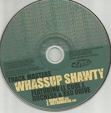 TRACK MASTERS w/ LL COOL J Whassup Shawty MIX & INSTRUMENTAL PROMO DJ CD Single