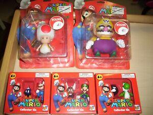 Lot figurines neuves Super Mario collector Tin : Luigi Yoshi Paragoomba bobomb..