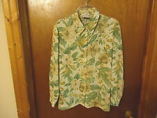 "Womens Bon Worth Size SP Floral Designed Button Down Shirt "" BEAUTIFUL SHIRT """