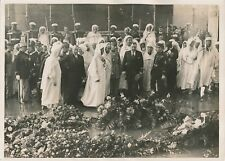 PARIS c. 1930 - Sultan du Maroc Mohamed V Militaires Arc de Triomphe - PRM 445