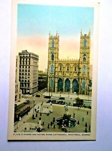 Palace D' Armes and Notre Dame Cathedral Montreal Quebec Postcard