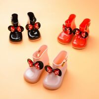 Children Kids Baby Girls Bowknot Dot Rubber Waterproof Student Boots Rain Shoes