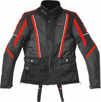Genuine Spidi Netwin Men Chest Back Armored Motorcycle Jacket Black Red 2XL
