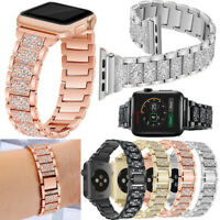 Stainless Steel Strap Link Bracelet+2 Connectors For Apple Watch Series 5 4 3 2
