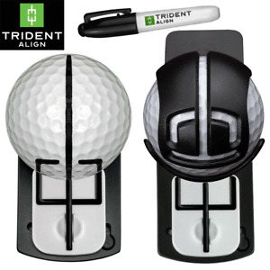 TRIDENT ALIGN THE WORLD'S FIRST ADJUSTABLE BALL MARKER READ IT. AIM IT. HOLE IT.