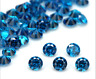 Wholesale Lot Of AAAA+ UNHEATED SEA BLUE SAPPHIRE 0.8mm to 3mm ROUND LOOSE GEMS