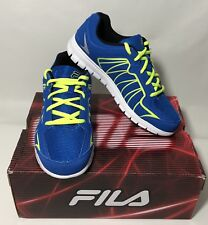 Fila Escalight Kids Sneaker Black Blue Safety Yellow