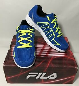 Fila Escalight Kids Sneaker Black Blue Safety Yellow