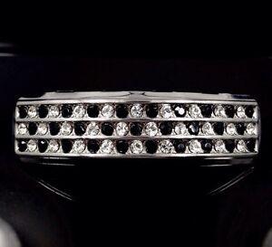 Premium Black ice Grillz Platinum Silver Style White Gold GP HipHop Teeth Grills