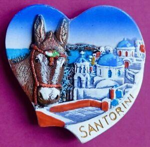 Souvenir Fridge Magnet Santorini Typical Architecture And Donkey Greece