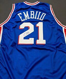 Joel Embiid Philadelphia 76ers Autographed Signed Jersey XL COA