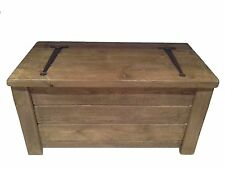 100cm x 55cm Rustic Bespoke Solid Wood Timber Toy Box/Blanket Box.